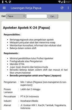 Lowongan Kerja Papua Terbaru apk screenshot