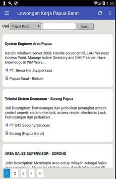 Lowongan Kerja di Provinsi Papua Barat Terbaru screenshot 1