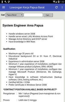 Lowongan Kerja di Provinsi Papua Barat Terbaru screenshot 5