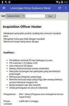 Lowongan Kerja Sulawesi Barat Terbaru & Terlengkap apk screenshot