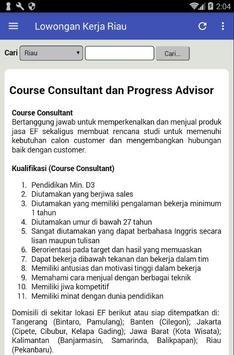Informasi Lowongan Kerja Pekan Baru Riau Terbaru screenshot 2
