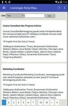 Informasi Lowongan Kerja Pekan Baru Riau Terbaru screenshot 4
