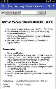Lowongan Kerja di Padang & Sumatera Barat Terbaru apk screenshot
