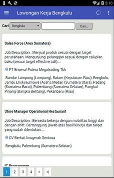 Lowongan Kerja Bengkulu Terbaru dan Terlengkap apk screenshot
