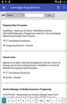 Lowongan Kerja Banten Terbaru dan Terlengkap apk screenshot