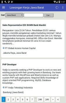 Lowongan Kerja Jawa Barat screenshot 2