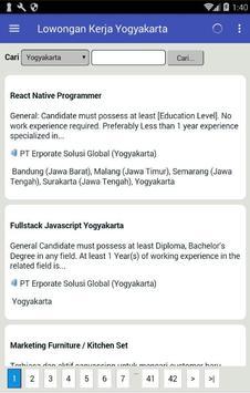 Lowongan Kerja di Kota Yogyakarta Terbaru apk screenshot