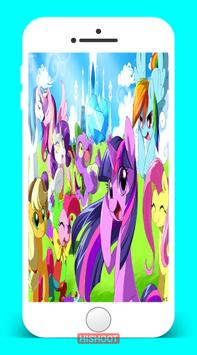 Rainbow Little Pony Wallpaper poster