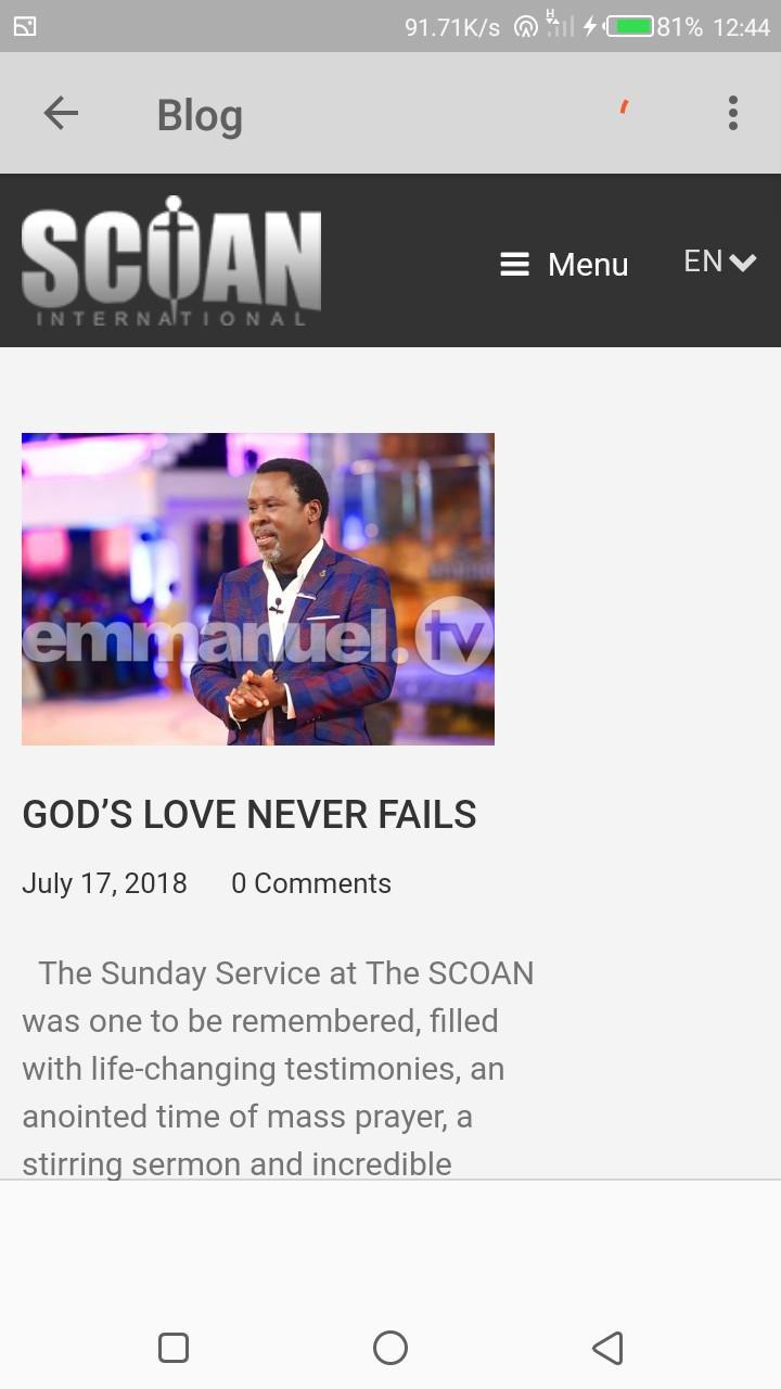 Prophet TB Joshua for Android - APK Download
