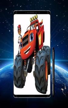Blaze Monster Wallpaper poster