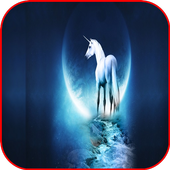 3D Unicorn HD Wallpaper icon