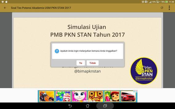 Soal Prediksi USM PKN STAN 2018 Sistem CAT screenshot 4