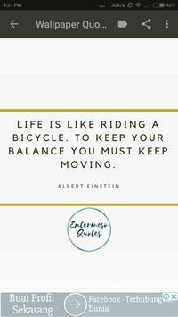 Albert Einstein Wallpaper Quotes poster