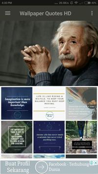 Albert Einstein Wallpaper Quotes apk screenshot