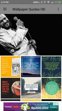 Marvin Gaye Biography and Wallpaper Quotes poster