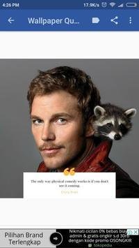 Chris Pratt Biography and Wallpaper Quotes poster