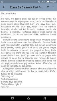 Zuma Sai Da Wuta - Hausa Novel apk screenshot
