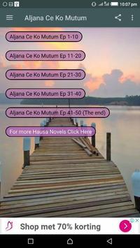Aljana Ce Ko Mutum - Hausa Novel apk screenshot