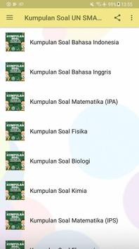 Kumpulan Soal UN SMA 2018 screenshot 1