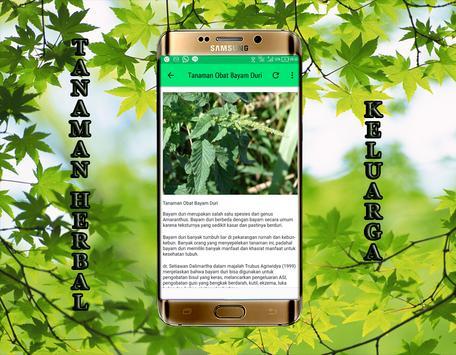 Tanaman Obat Herbal keluarga apk screenshot