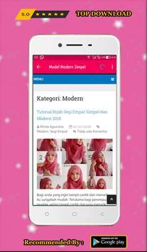 TUTORIAL HIJAB MODERN TERLENGKAP 2018 screenshot 1