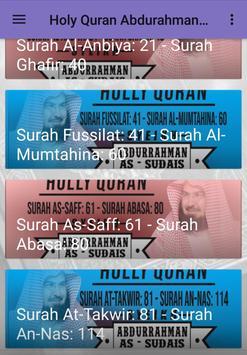 Holy Quran Sheikh Al Sudais Full screenshot 1