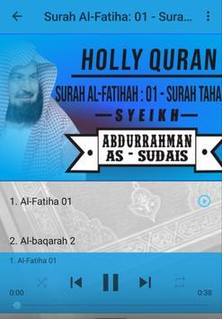 Holy Quran Sheikh Al Sudais Full screenshot 2