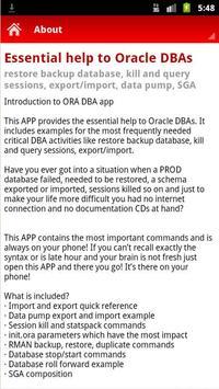 Oracle DBA help screenshot 1