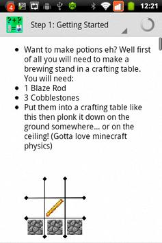 Potion Guide for Minecraft apk screenshot