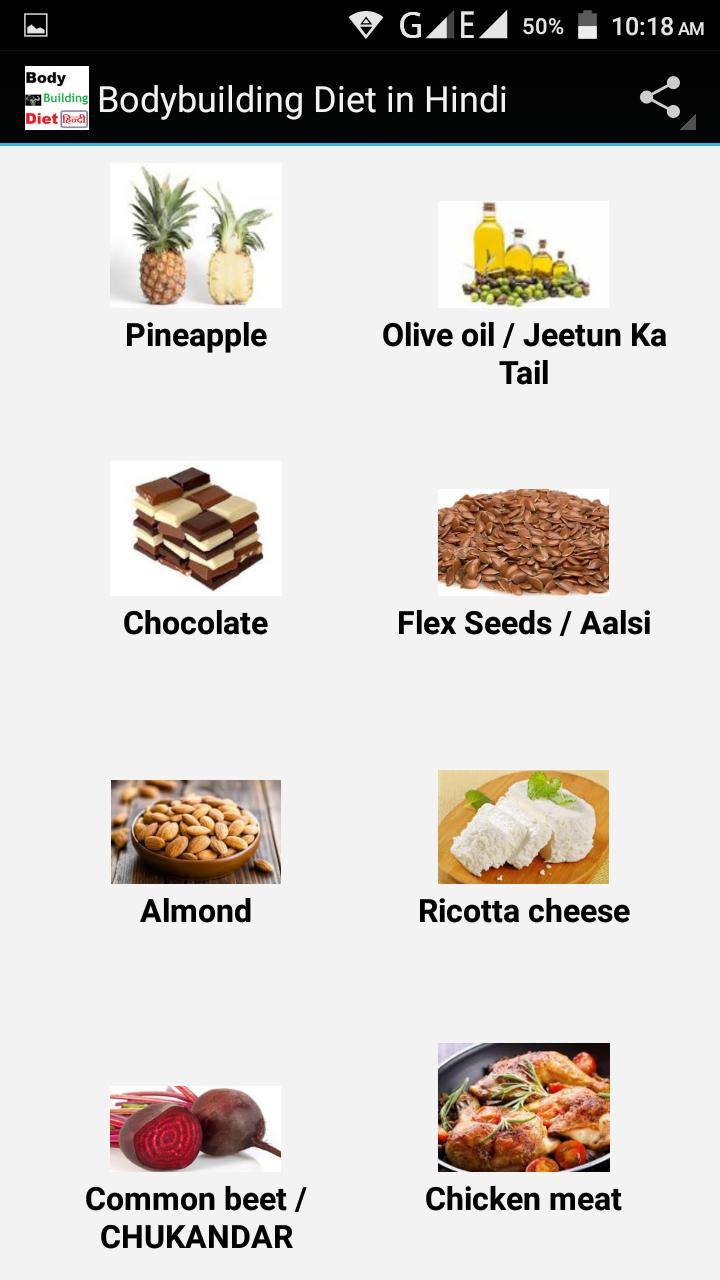Bodybuilding Diet In Hindi For Android Apk Download