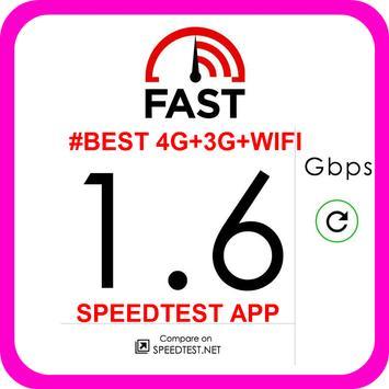 #BEST 4G+3G+WIFI SPEEDTEST APP poster