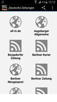 Deutsche Zeitungen Newspapers poster