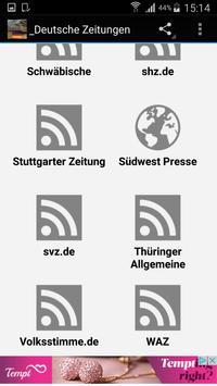 Deutsche Zeitungen Newspapers apk screenshot