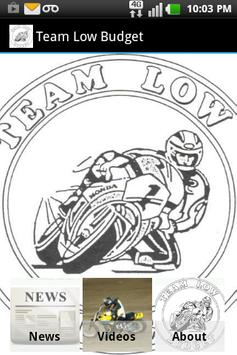 Team Low Budget (Motorcycles) poster