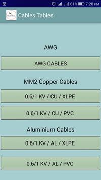 Kabel Tische, elektrische Daten für Elektriker für Android - APK ...