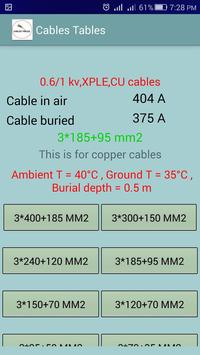 Electrical cables tables cable sizer calculator for android apk electrical cables tables cable sizer calculator screenshot 7 greentooth Gallery