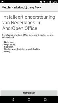 Dutch (Nederlands) Lang Pack for AndrOpen Office poster