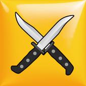 Rotary knife icon
