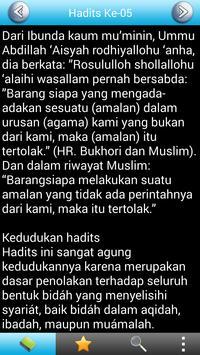 Arbain Nawawiyah Terjemahan Indonesia Free poster