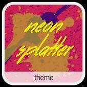 Neon Splatter • Xperia Theme icon