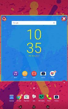 Neon Splatter • Xperia Theme apk screenshot