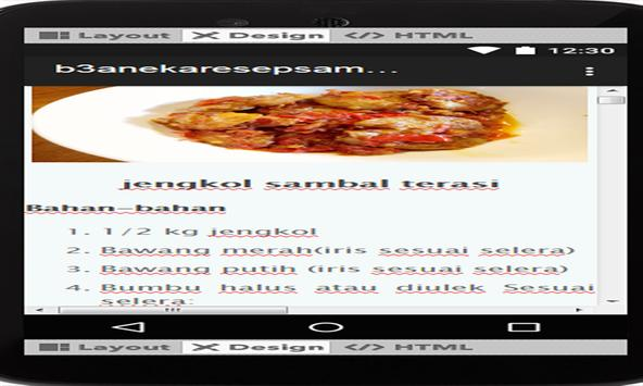 aneka resep sambal terasi lezat nusantara screenshot 3