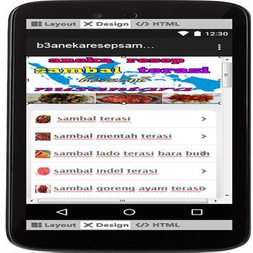 aneka resep sambal terasi lezat nusantara screenshot 2