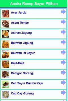 Resep Sayur Pilihan 2016 screenshot 5