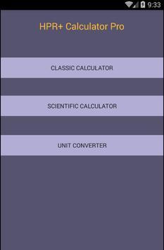 HPR+ Calculator Pro screenshot 1