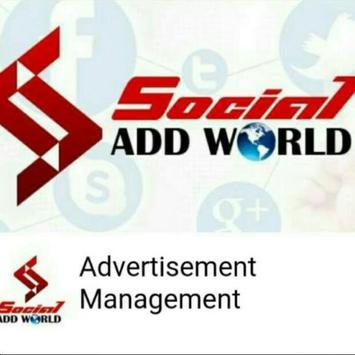 Social Add World - Official App पोस्टर