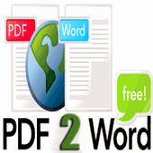 Convert PDF to Word icon