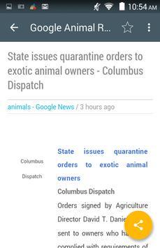 Animal News apk screenshot