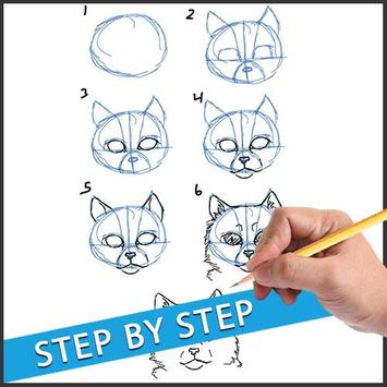 Drawing Animal Tutorial Kids apk screenshot