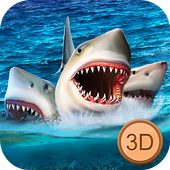 Three Headed Shark Underwater Survival icon
